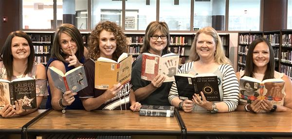 This is a picture of the Ennis ISD Library Media Specialists.