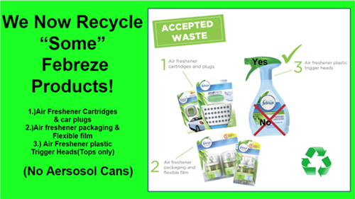 Febreze Items for Recycle