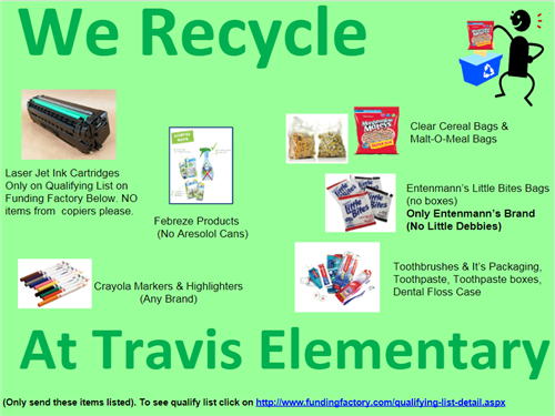 Travis Elementary Recycles!