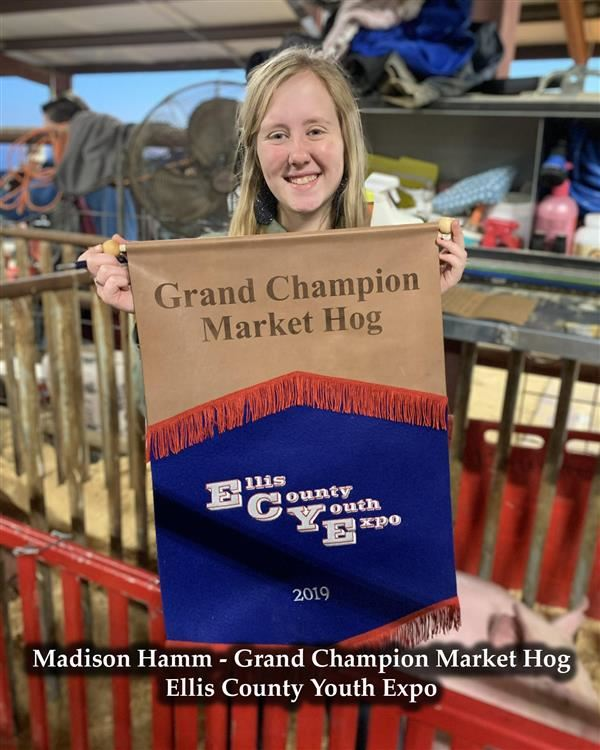 Madison Hamm - Grand Champion Market Hog