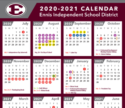 Revised District Calendar Approved