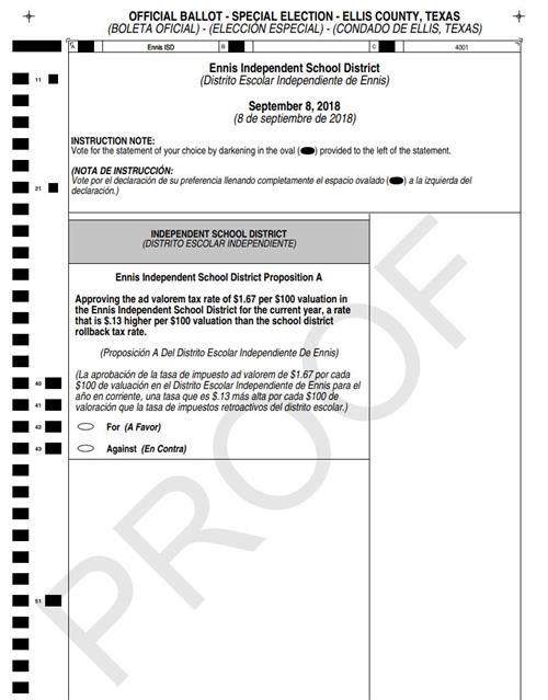 Image of TRE ballot proof
